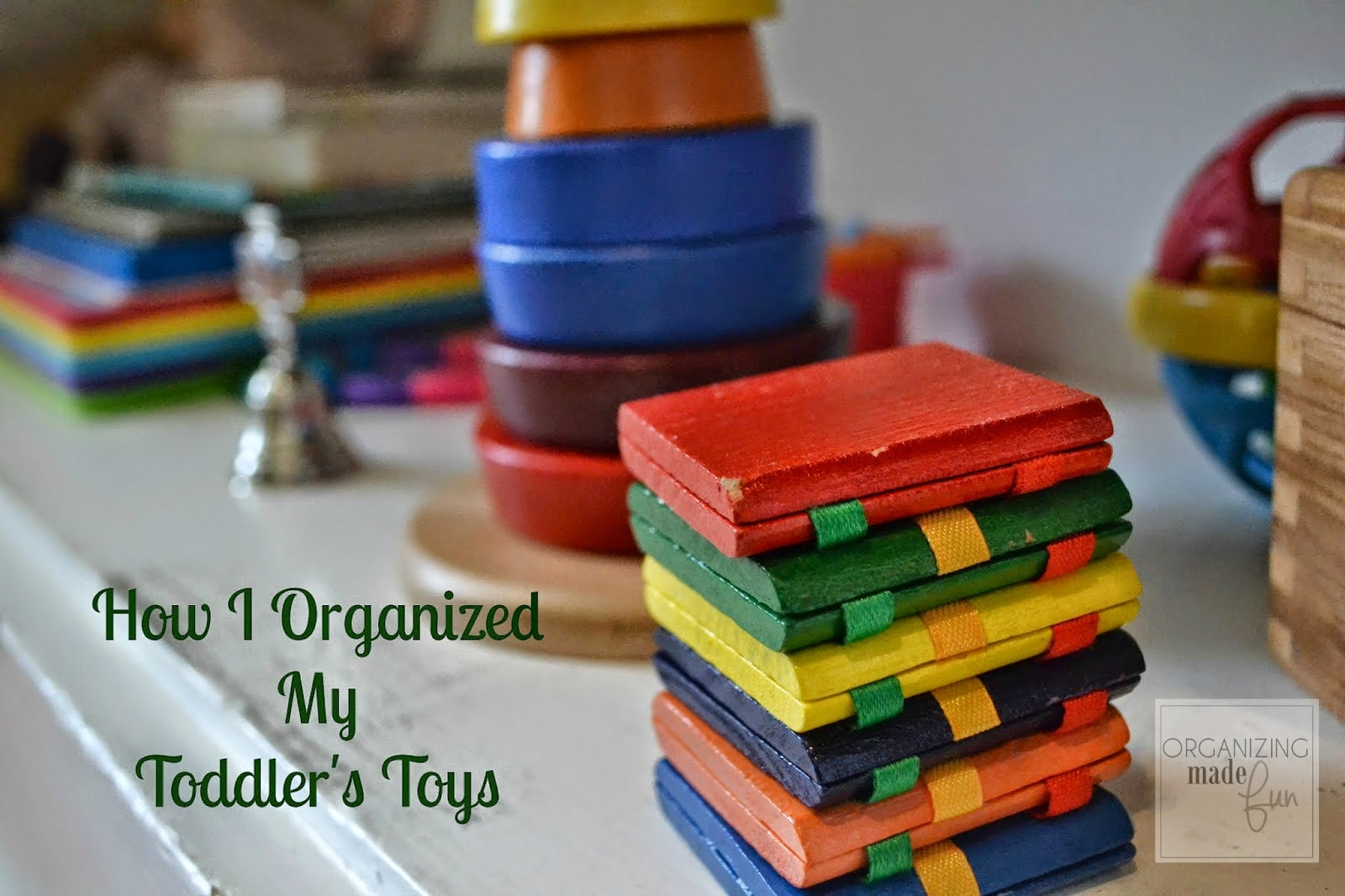 How to Organize Toddler's Toys :: OrganizingMadeFun.com