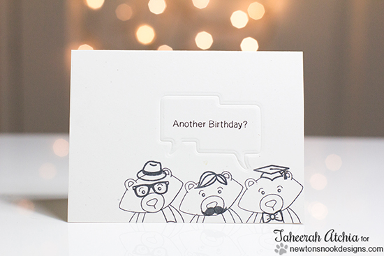 Winston Birthday Card by Taheerah Atchia for Newton's Nook Designs