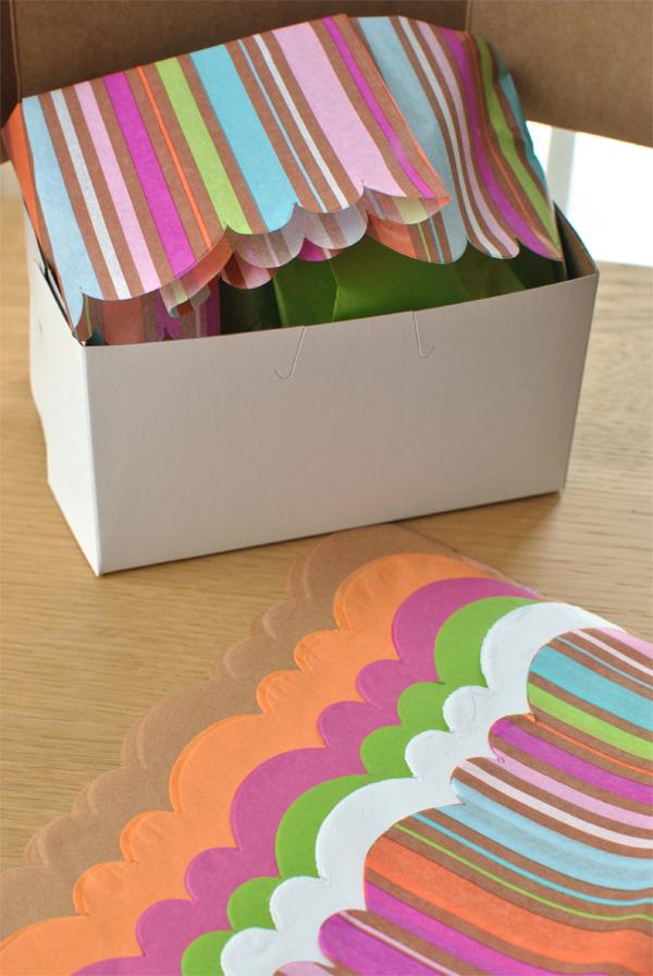 scalloped tissue paper