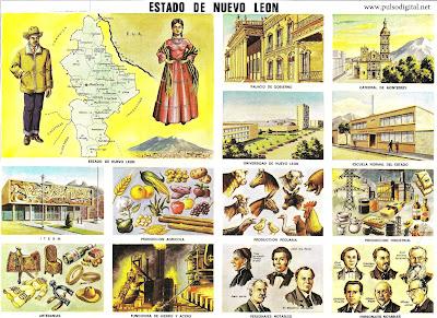 Estado de Nuevo León [Lámina Escolar]