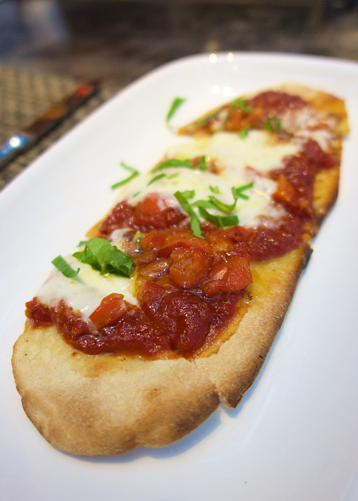 Tom Colicchio's Heritage Steak - Tomato Flatbread with Burrata Cheese