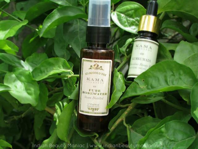 Kama Ayurveda Pure Rosewater Review, Kama Ayurveda, Ayurvedic remedies in India, Skin Care, Indian Beauty Blogger, Indian Makeup Blogger