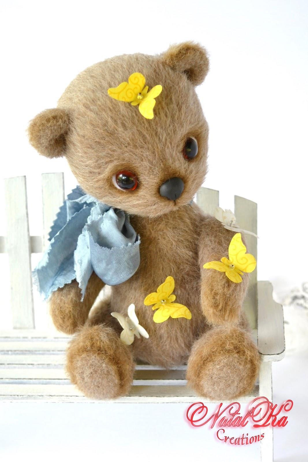 Künstlerbär, Teddybär, Bär, Sammlerbär handgemacht von NatalKa Creations.  Авторский мишка тедди ручной работы от NatalKa Creations. Artist bear, artist teddy bear, bear handmade, bear jointed, ooak bear, handmade by NatalKa Creations