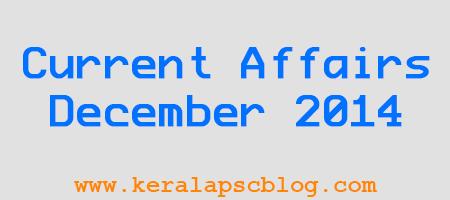 Current Affairs December 2014 PDF