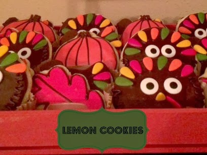 Thanksgiving Turkey Lemon Cookies | Craft Dictator