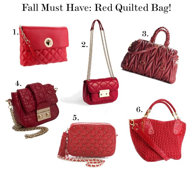Sweetie Pie Style: Fall Must Have: The Red Quilted Bag! : red quilted bag - Adamdwight.com