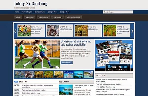 Johny Si Ganteng Responsive Blogger Template