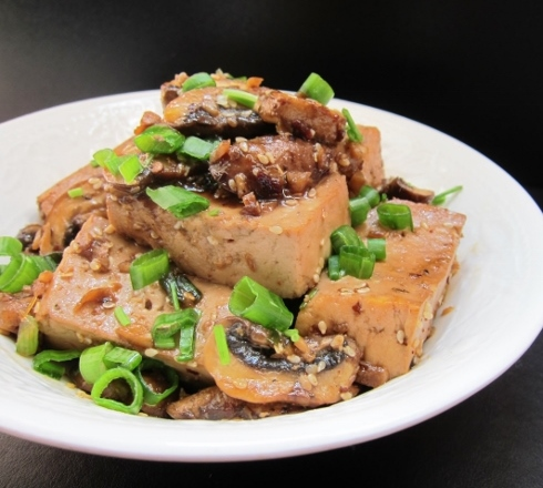 Spicy Tofu with Mushrooms Recipe from Nomsies Kitchen