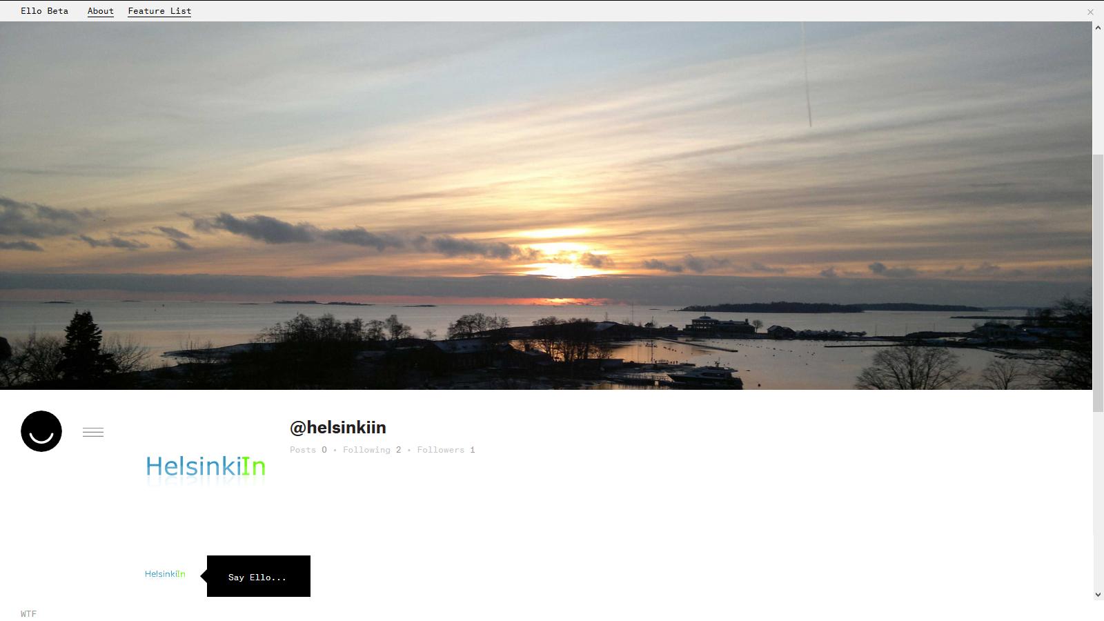 HelsinkiIn on Ello