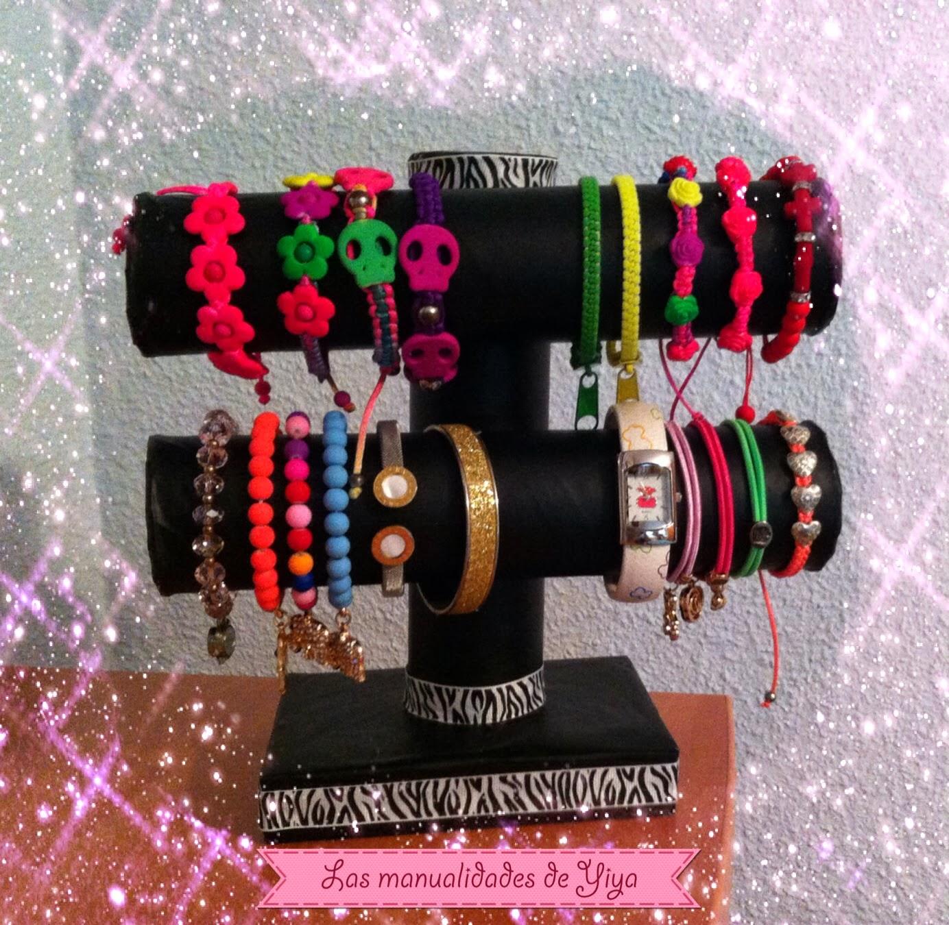 Las manualidades de yiya organizador de pulseras y relojes - Manualidades relojes de pared ...