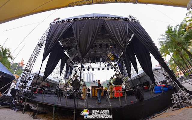 A view from the backstage @ OneRepublic Native Live in Malaysia 2013
