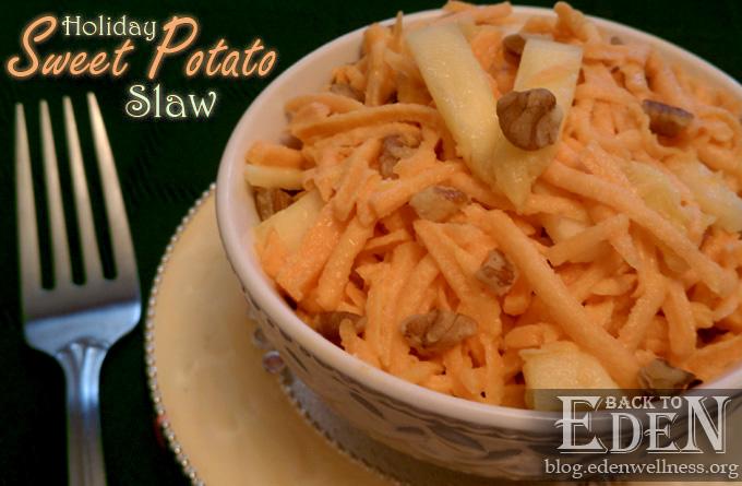 Holiday Sweet Potato Slaw - {Back to Eden Health Ministry}