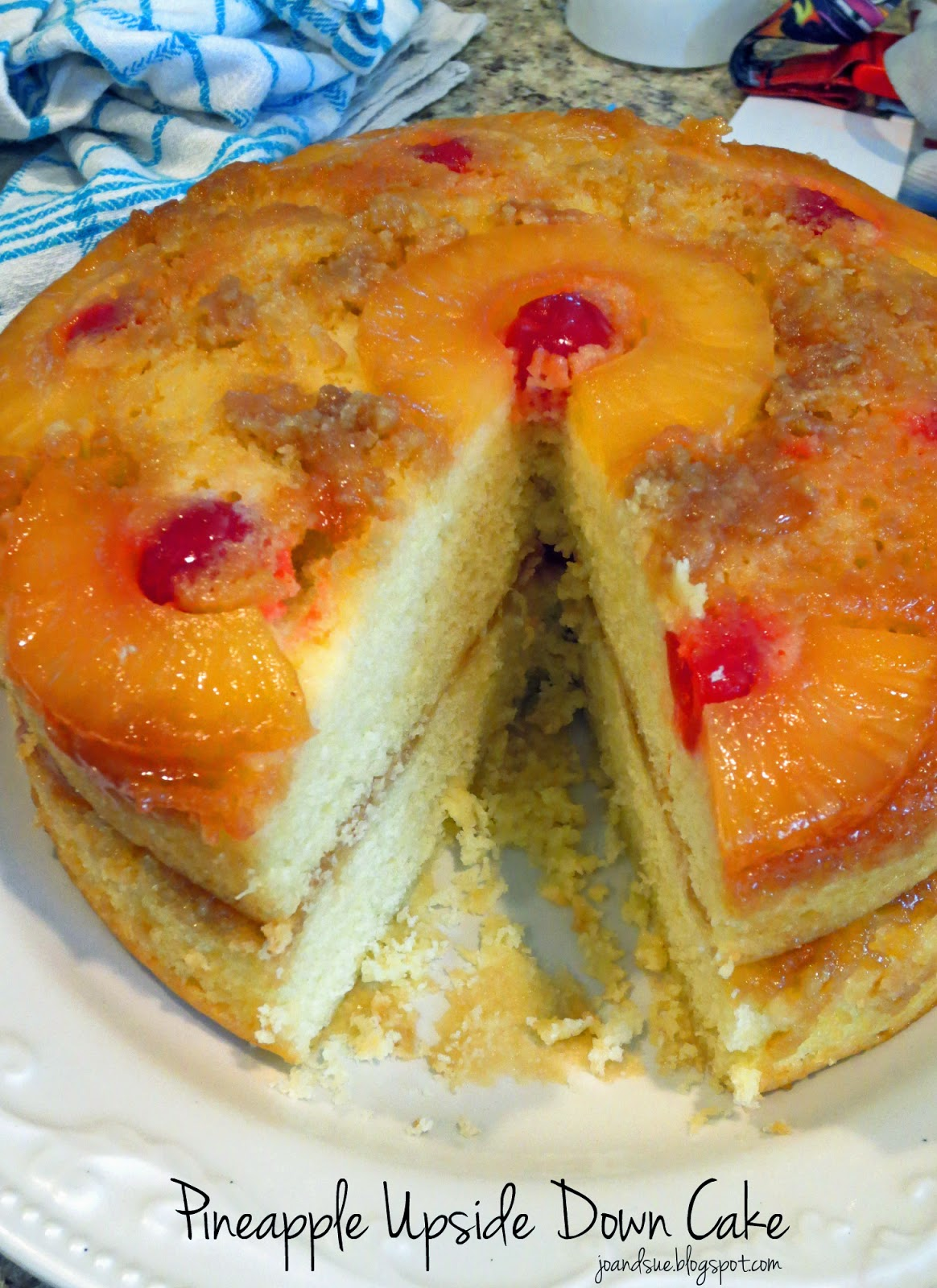 Jo and Sue: Layered Pineapple Upside Down Cake