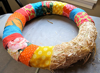DIY scrap fabric wreath