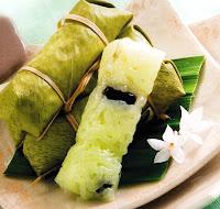 ข้าวต้มมัดเตยหอม ขนมไทย