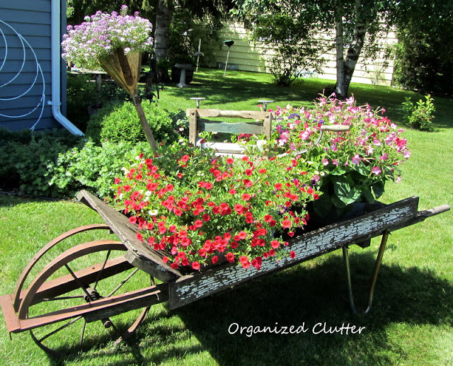 Laundry Themed Wheelbarrow Container Gardens