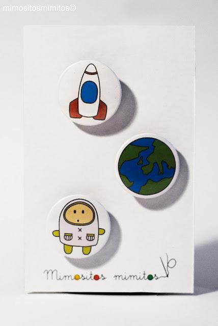 chapas de astronauta