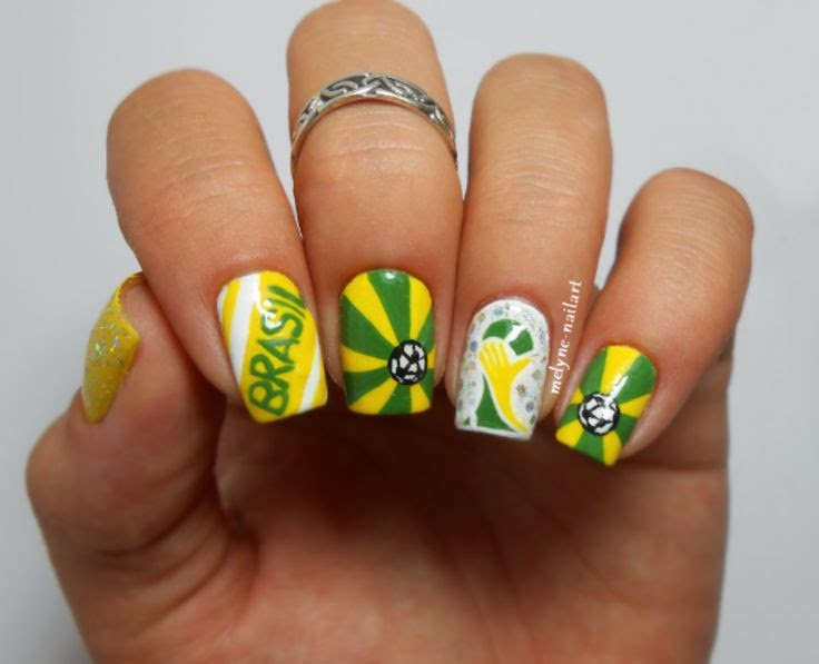 8 Beautiful Nail Art Design Ideas For World Cup 2014 All Countries
