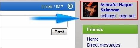 add blog in friendfeed