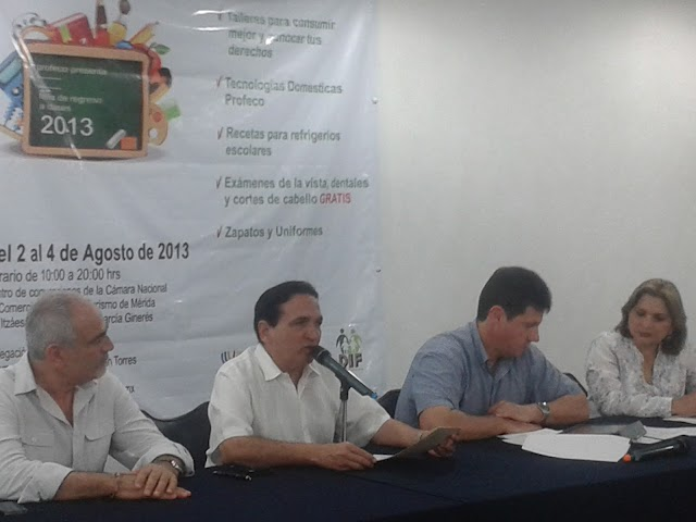 Anuncian PROFECO y CANACO la Feria del Regreso a Clases