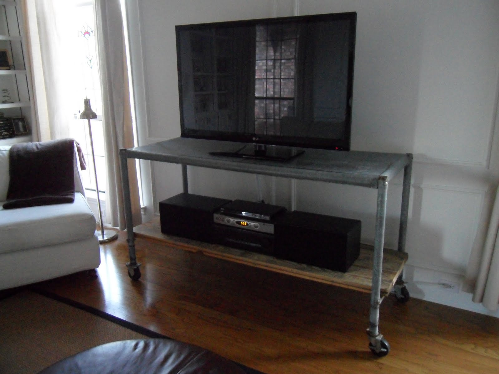 Tattered Style Industrial Tv Stand