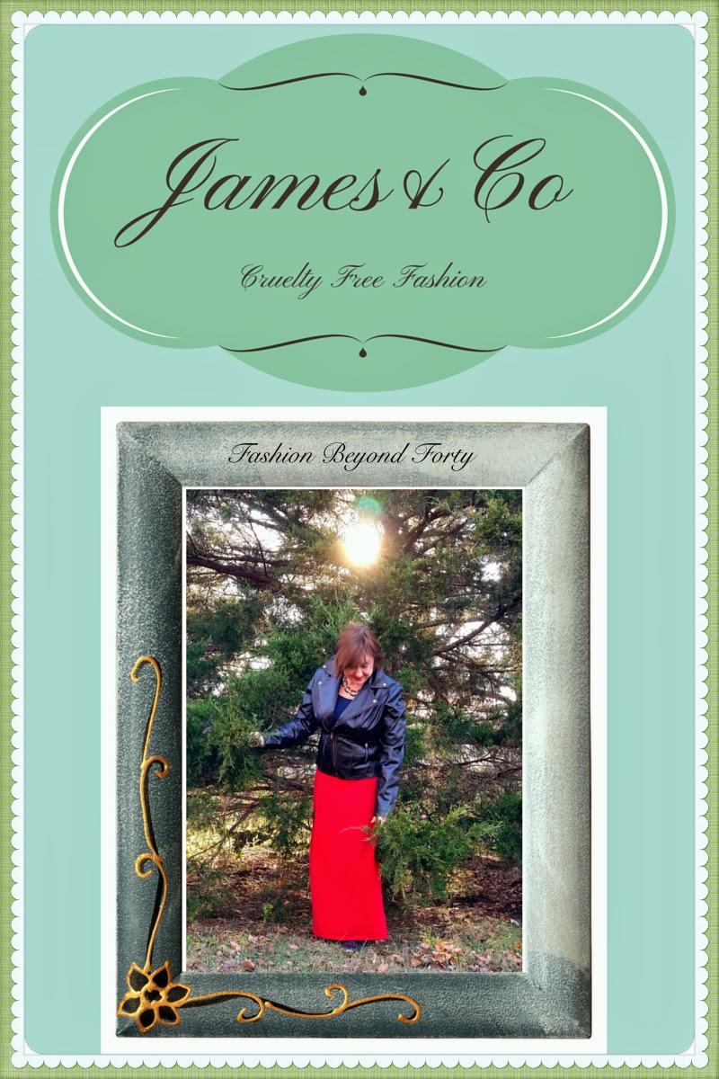 James&Co Vegan Cruelty Free Diane Moto Jacket