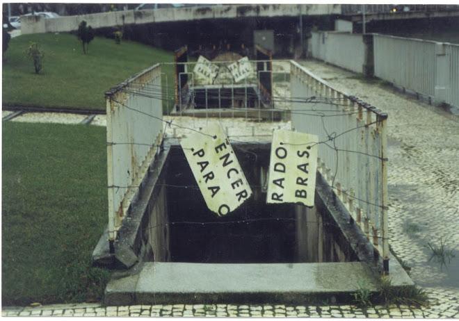 Publicidade gratuita na Baixa de Coimbra - 1995