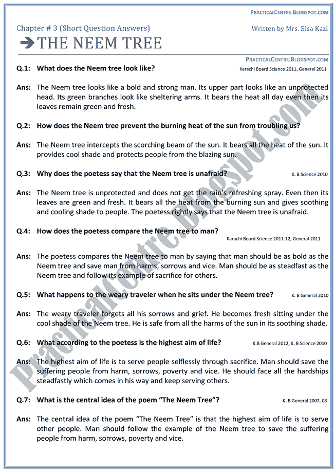 the-neem-tree-questions-answers-english-ix