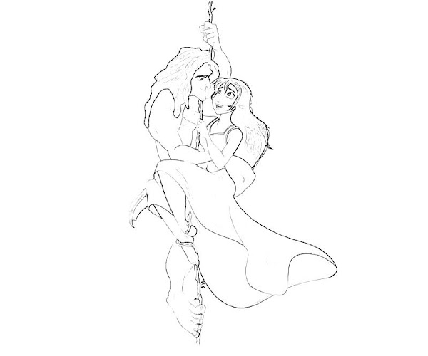 Tarzan and Jane Coloring Pages