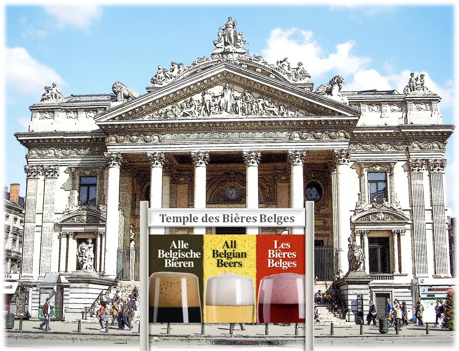 PALAIS DE LA BOURSE -  Futur temple des Bières Belges (2018) - La Bourse mise en bière, une affaire qui mousse - Bruxelles-Bruxellons