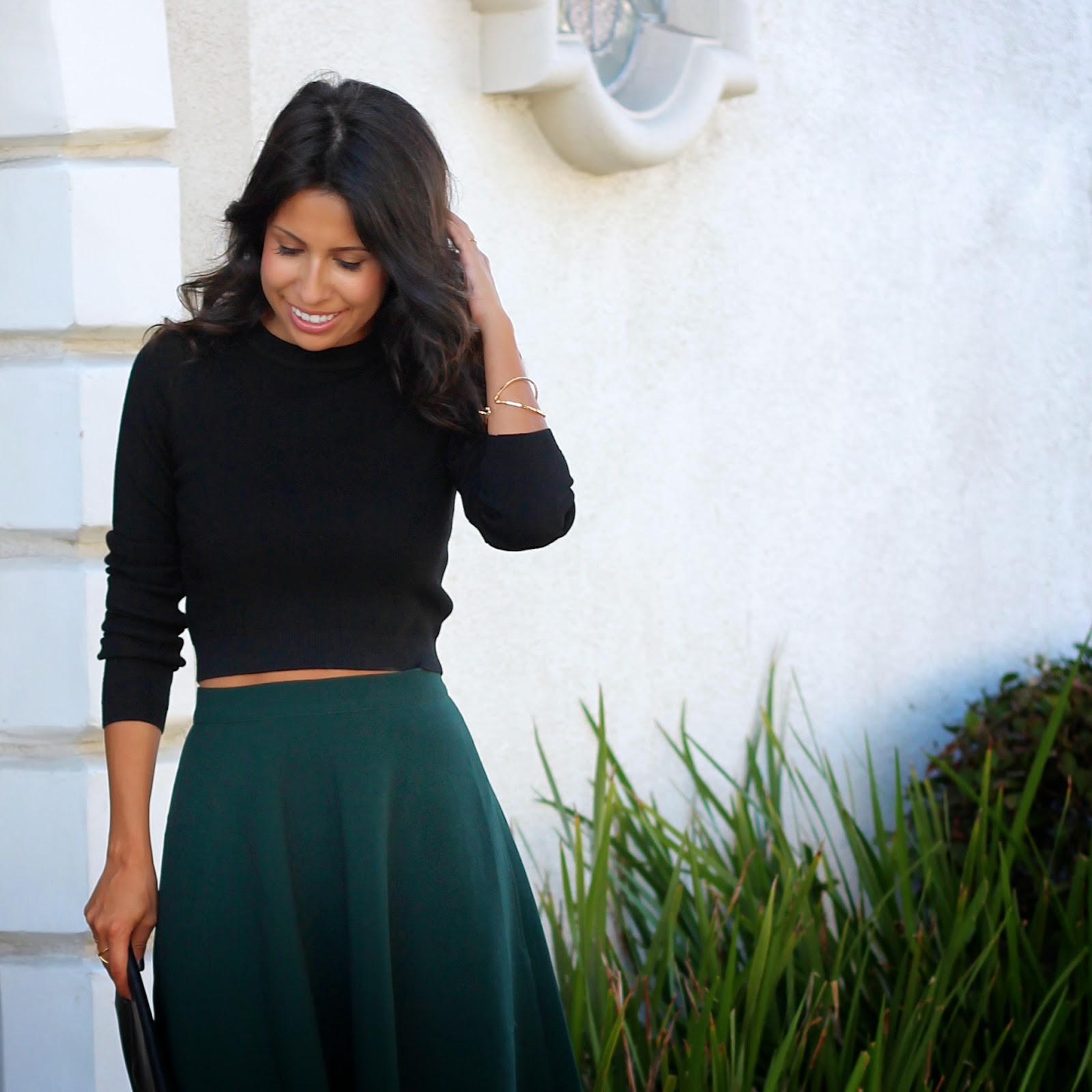 fall beauty, holiday outfit, how to wear crop top