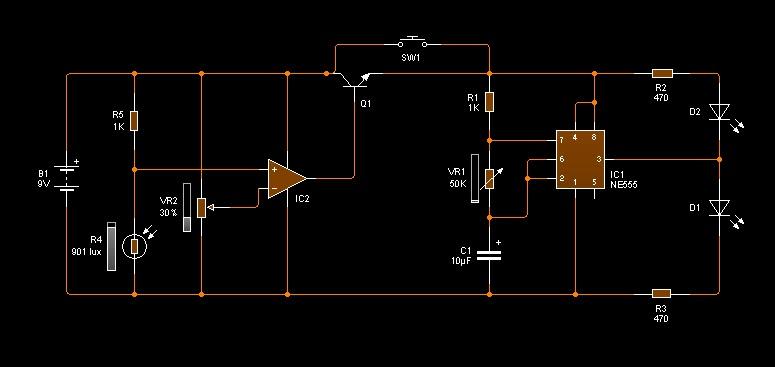Circuito Luces Led Intermitentes : Electrónica fácil para todos leds intermitentes