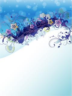 美しい花束を配置した背景 Abstract background with flowers elements イラスト素材