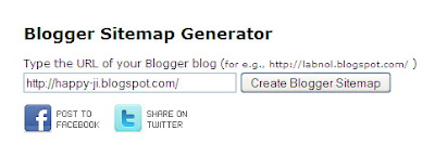 sitemap generator blogger