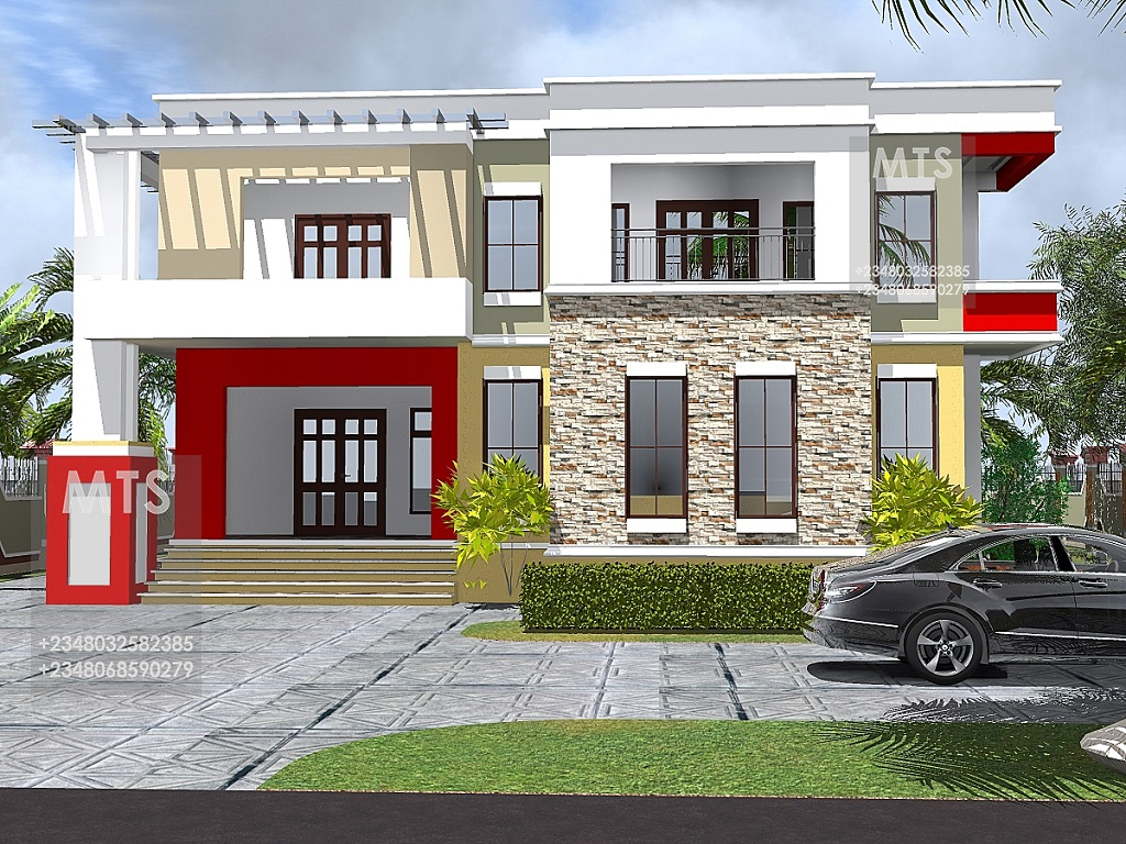 Mr okon 4 bedroom duplex residential homes and public for 4 bedroom duplex design