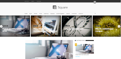 square blogger template