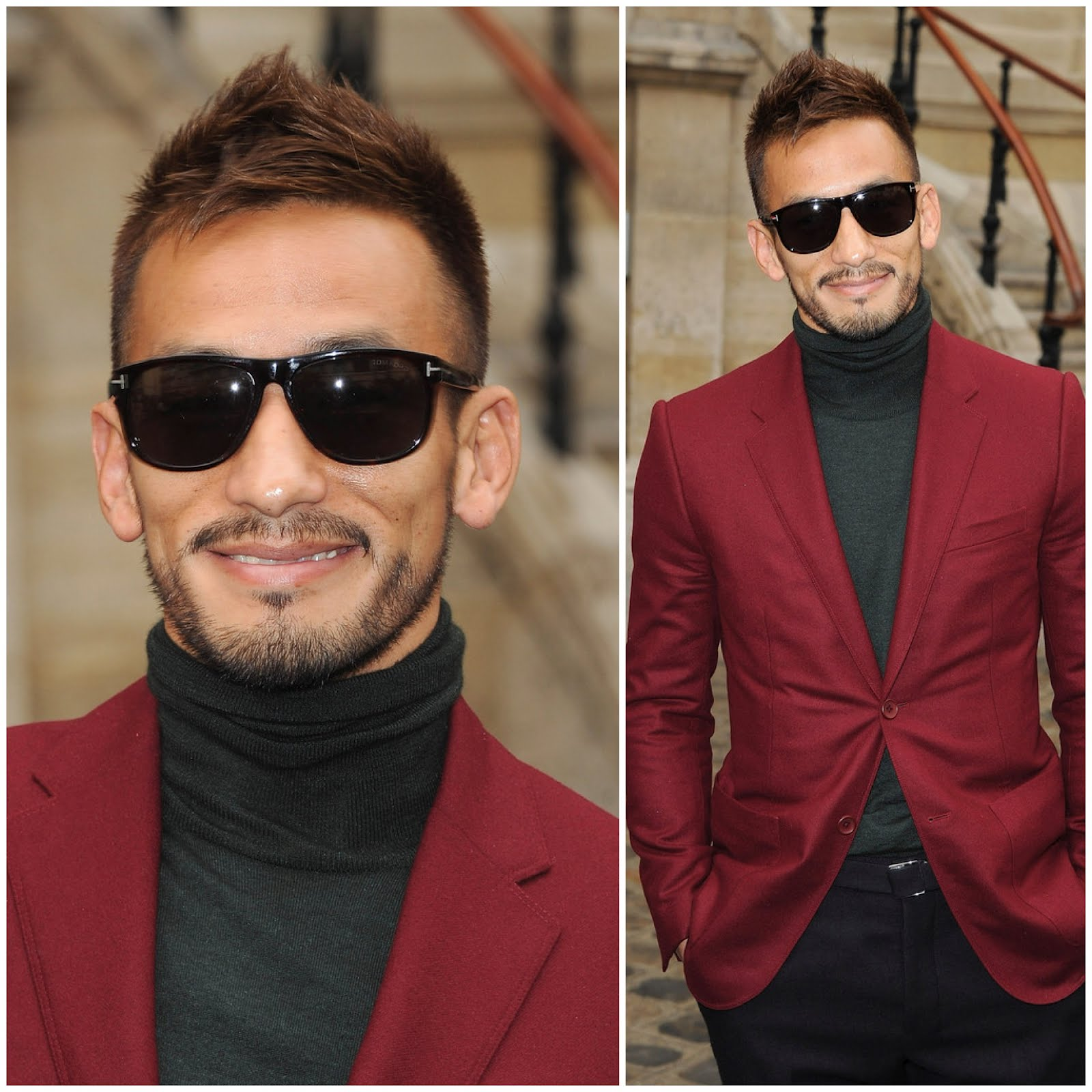 00O00 London Menswear Blog Hidetoshi Nakata in Balenciaga Paris Fashion Week 2012