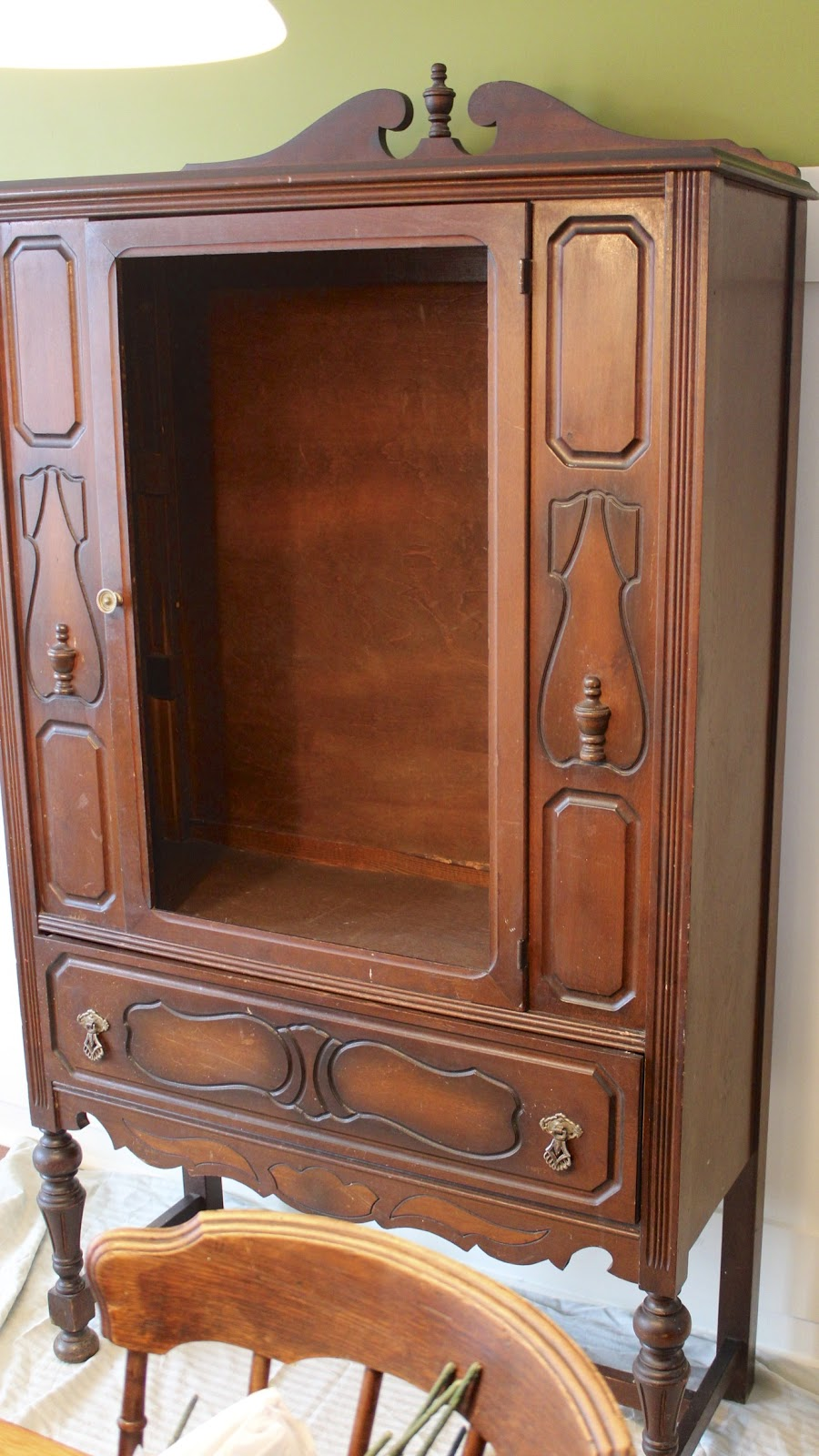 Painted Furniture Ascp Old White China Cabinet New