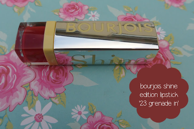 bourjois shine edition lipstick grenade in
