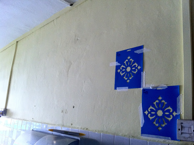 Stencilling the Wall