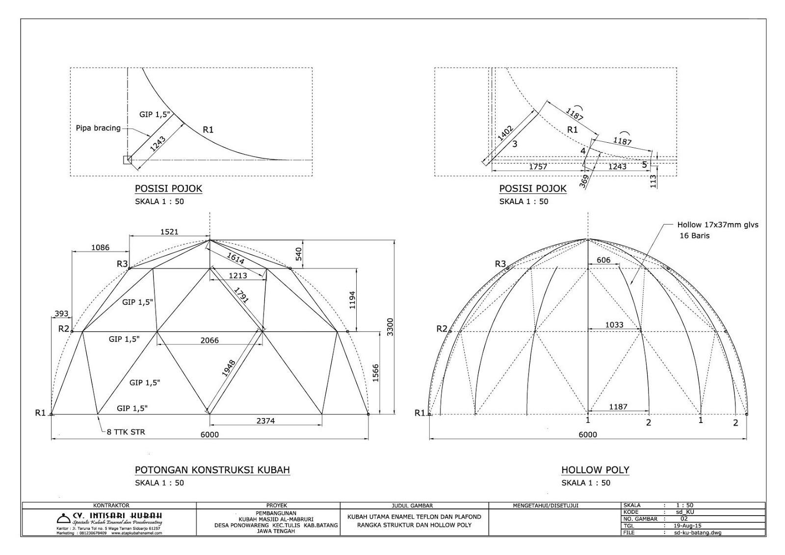 Contoh Denah Atap