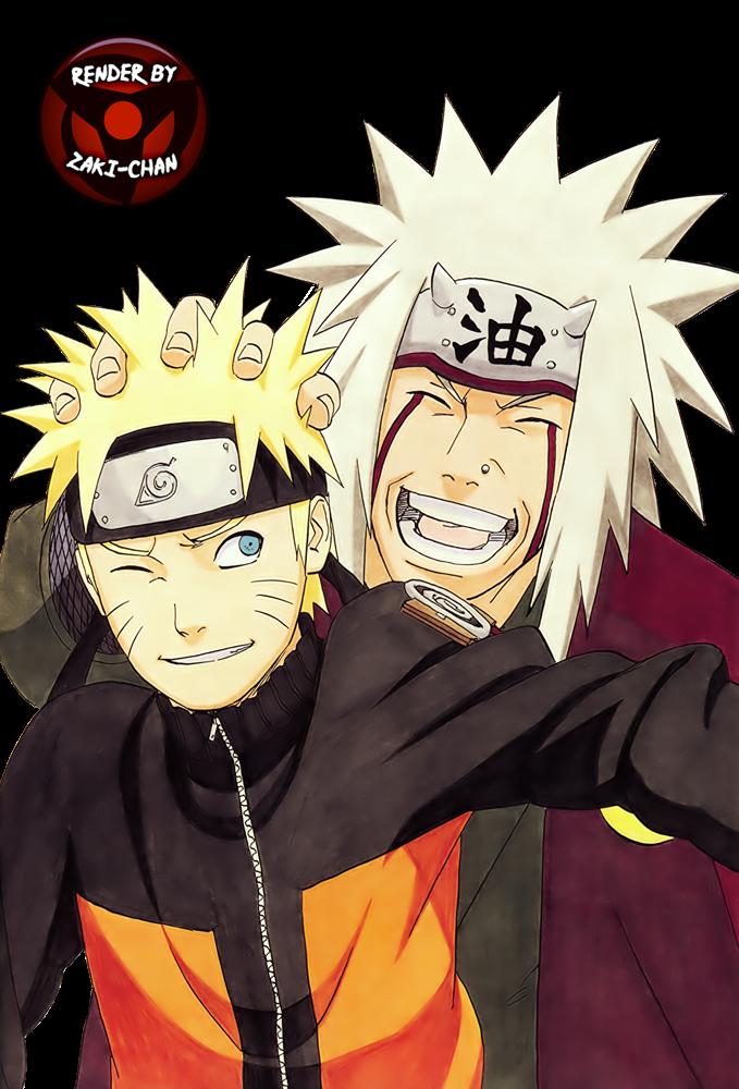 Render Naruto y Jiraiya
