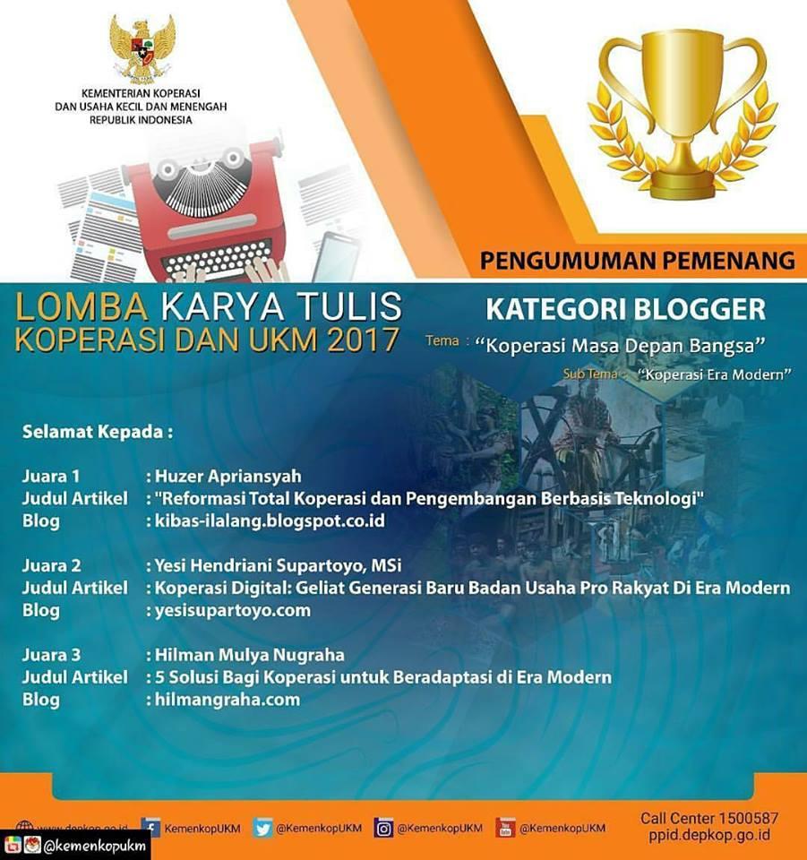 2nd Winner Kementerian Koperasi dan UKM