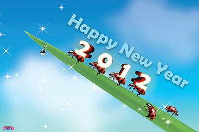 Kartu Ucapan Tahun Baru 2012 lucu