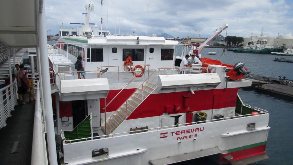 Le Terevau à la gare maritime de Papeete