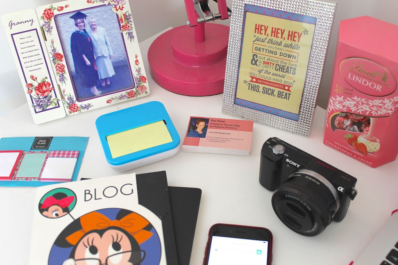 Bec Boop blogging essentials