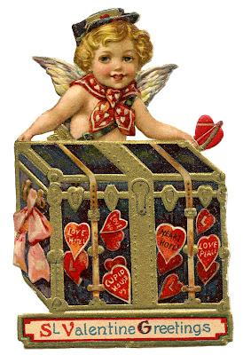 Vintage Valentine Image - Cupid Postman