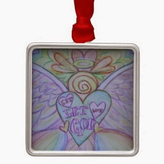 Let Love, Let God Angel Ornament