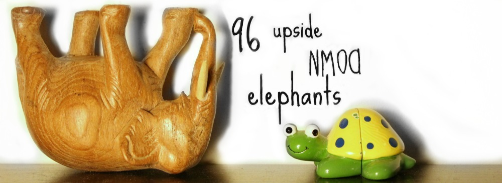 96 upside down elephants