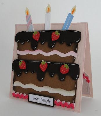 Tarjeta tarta de cumple